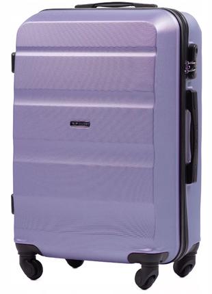 Чемодан дорожный (дорожная сумка) пластиковый на 4 колёсах мини at01 xs wings ( фиолетовый )