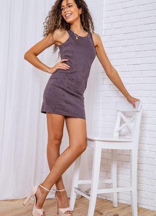 Платье мини цвет мокко