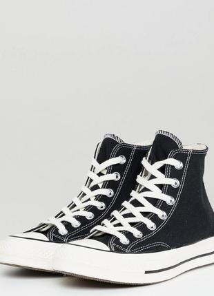 Converse chuck 70 hi sneakers in black, размер 40