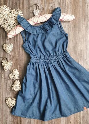 Платье сарафан легкое джинс новое cool club 5-6л 116р