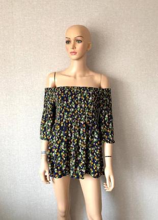 Блуза из натуральной ткани стильная батал