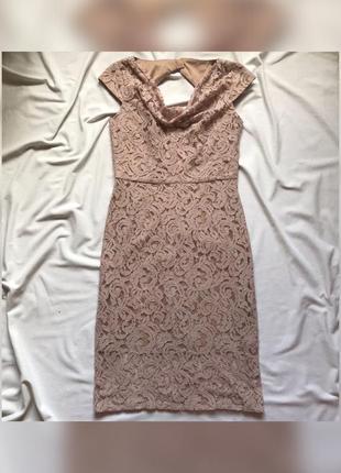 Жіноча ажурна сукня міді