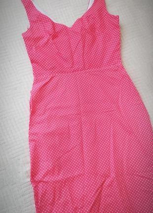 Платье сарафан tara starlet миди хлопок в мелкий горошек