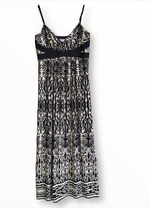 Классный длинный сарафан,длинное платье на тонких бретельках wallis
