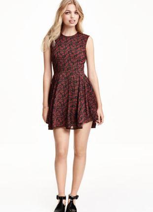 Платье в принт h&m