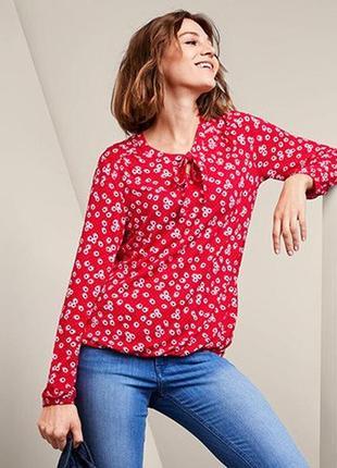 Стильная женская блуза, лонгслив в ромашку от тсм tchibo (чибо), германия, размер l-4xl