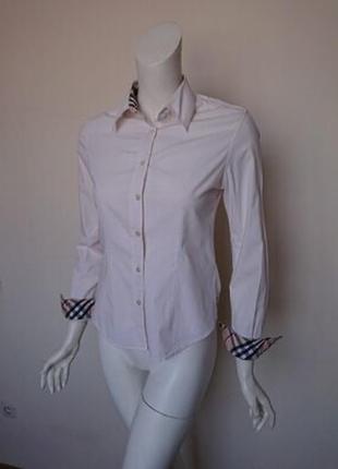 Белая базовая рубашка мега бренд