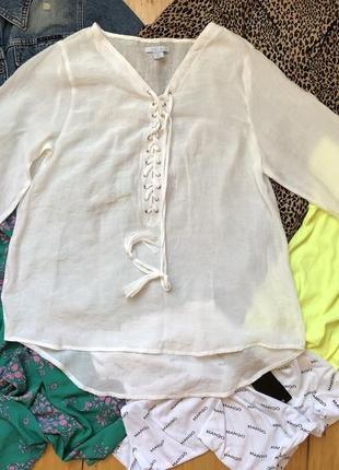 Белая летняя рубашка сорочка