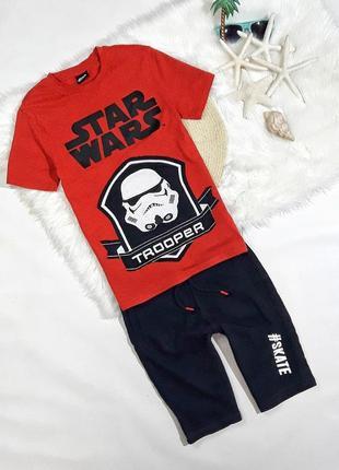 Летний набор футболка + шорты star wars, на 9-10 лет