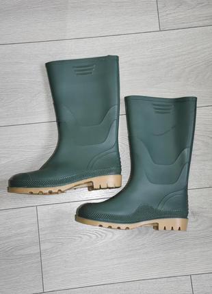 Резиновые сапоги оригинал размер 38 - 38.5 стелька 25 - 25,5 см зеленые
