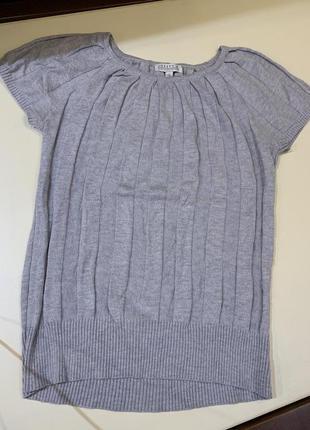 Серая футболка вязаная размер м