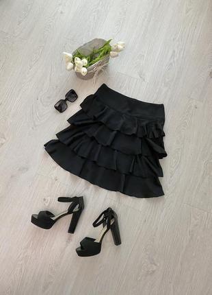 Красивая юбка миди с оборками h&m1 фото