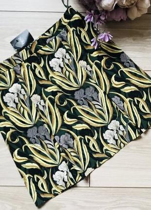 Летняя короткая юбка в узор