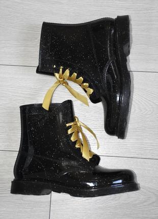 Резиновые ботинки сапоги со шнурками atmosphere оригинал размер 39,40,41 стелька 25 см
