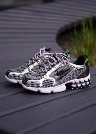 Nike air zoom spiridon 🍏 рефлективные женские кроссовки найк аир зум
