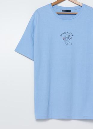 Длинная футболка oversize футболка свободного кроя