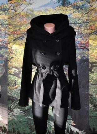 Пальто женское демисезон с большим капюшоном avant premiere м
