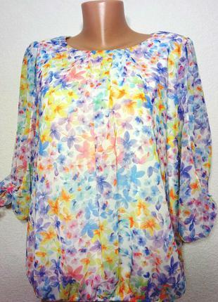 Блуза нежная с красивыми рукавчиками р 18 f-f