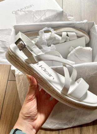 Calvin klein босоножки белые сандали лето кельвин кляйн