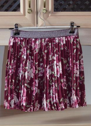 Цветочная юбка плиссе