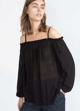 Блузка топ на плечи с открытыми плечами