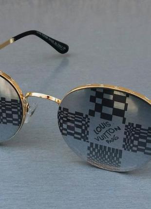 Louis vuitton модные женские солнцезащитные очки линзы серые зеркальные с лого в золоте