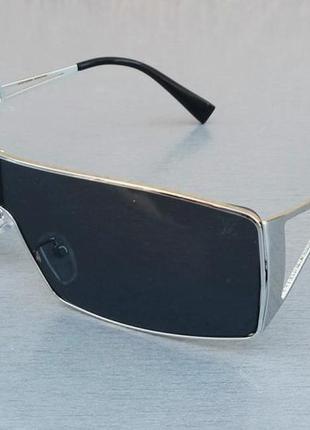 Louis vuitton очки унисекс солнцезащитные обтекаемые в серебристой металлической оправе
