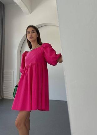 Платье 4 цвета коттон