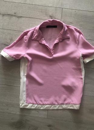 Zara кофта футболка поло с м