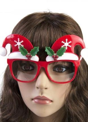 Очки новогодние с колпаками