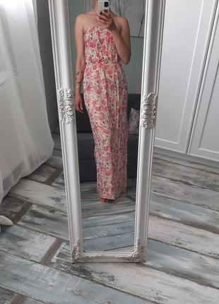 Сарафан в пол с цветочным принтом new look.
