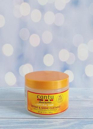 Увлажняющий гель для волос кастард cantu curl and shine custard