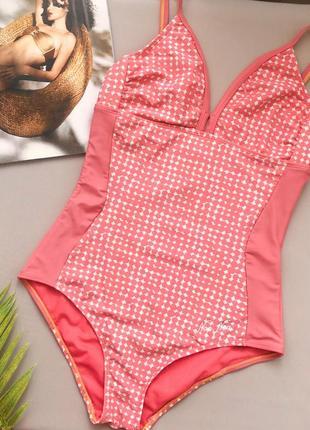 Пудрово - розовый сдельный купальник noa noa