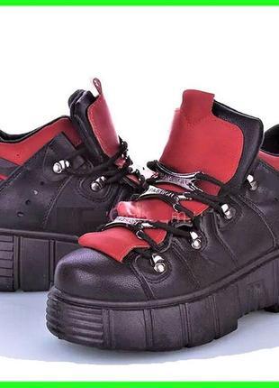 Женские кроссовки на танкетке черные слипоны мокасины на платформе (размеры: 36,37,38,39) - 612