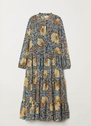 Роскошное волшебное шифоновое платье с принтом из коллаборации william morris for h&m