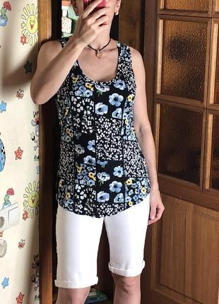Удлиненная нарядная майка топ dorothy perkins цветочный принт