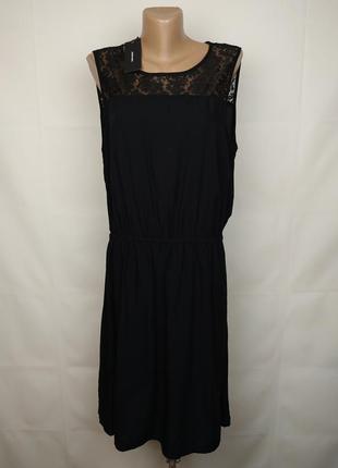 Платье новое шикарное с кружевной кокеткой оригинал vero moda xl
