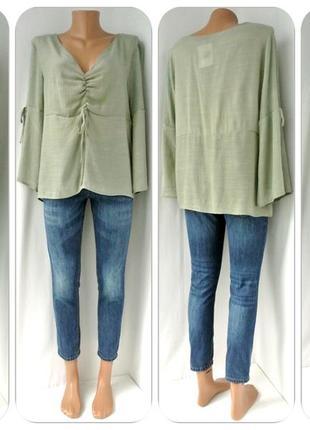 Новая блузка primark оливкового цвета. размер uk12/eur40 (м/l).