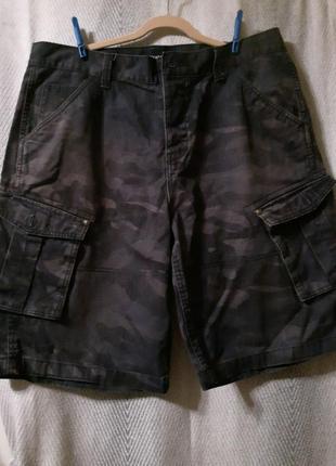 Мужские джинсовые, хлопковые шорты бермуды камуфляжные.100% котон