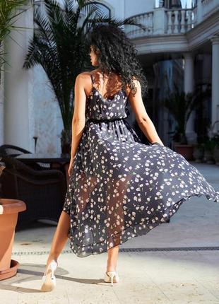 Невероятно красивое женское шифоновое платье