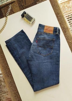 Прямые джинсы levis модель 501 / высокая посадка / деним / штаны / оригинал
