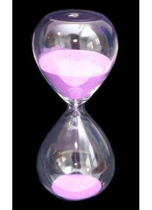 Песочные часы колба розовый песок