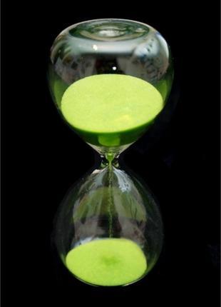 Часы песочные колба салатовый песок