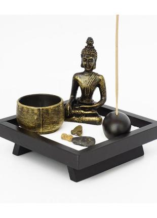Сувенир настольный дзен набор сад камней будда