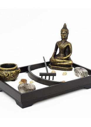 Сувенир настольный дзен набор сад камней будда -1