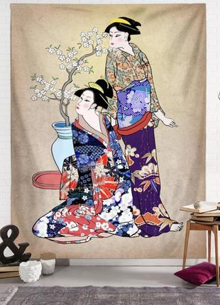 Картина текстильная гобелен гейши