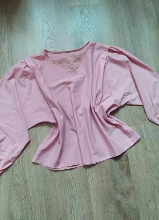 Нежная винтажная блузка элегантная ссср ретро