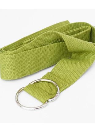 Пояс для йоги стропа ремень зеленый