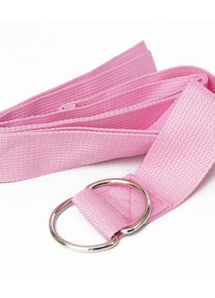 Ремень для занятий йогой пояс светло-розовый