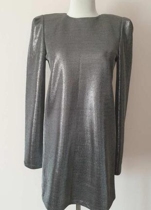 Вечернее платье h&m коктельное платье с люрексом и плечиками
